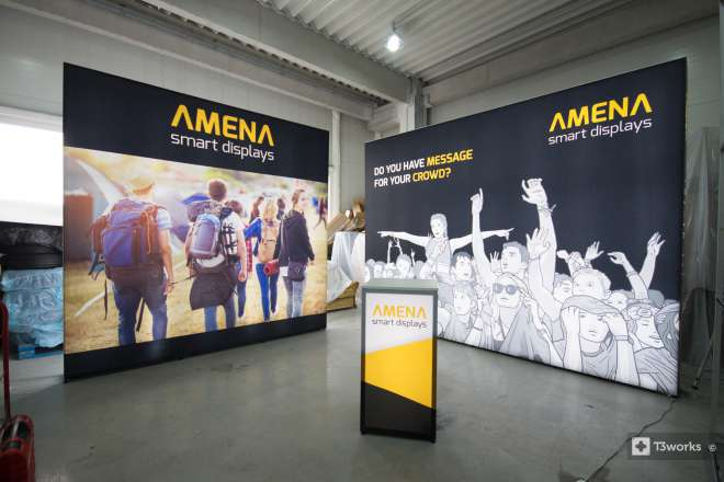 Backlit exhibition stand Amena