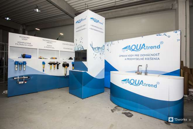 Exhibition stand 4x5m with shelves
