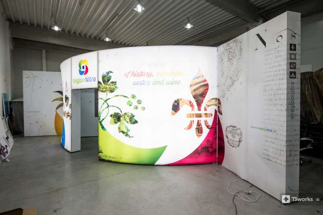 Atypical exhibition stand 7x7m - Region of Nitra